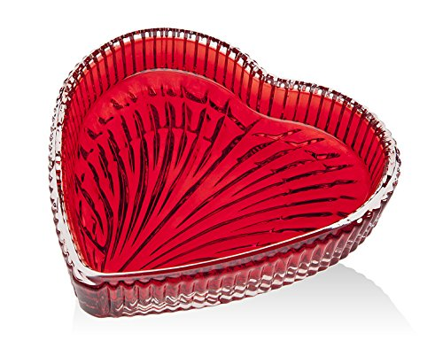 - Godinger Tenderness Red Heart Tray