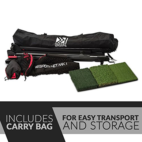 Rukket 4pc Golf Bundle | 10x7ft SPDR Driving Net | Tri-Turf Hitting Mat | Barrier Protective Wings | Carry Bag | Practice Indoor and Outdoor by Rukket Sports (Image #6)