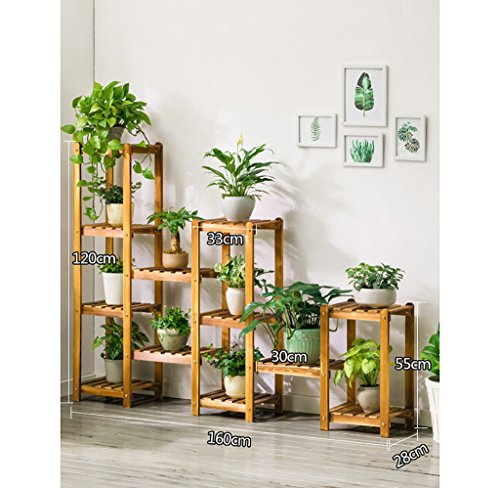 Chairs FL Pergolas/Flower Racks Antique Multilayer Natural Hardwood Indoor/Outdoor Plant Theater Folding Portable Herbal Booth Greenhouse Wooden Shelf Garden Decoration Flower Display Stands