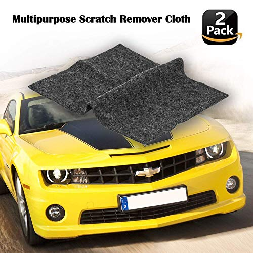 [2 Pack] Multipurpose Scratch Remover Cloth,Car Paint Scratch Repair Cloth,Car Scratch Remover,Nano-Meter Scratch Removing Cloth for Surface Repair,Scratch Repair and Strong Decontamin (Yellow)