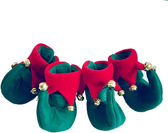 LLNstore Puppy Dog Shoes Red Snow Boots Puppy Dog Shoes Pet Warm Shoes Anti-Slip Thicken Puppy Booties for Puppy Dogs Chihuahua 4Pcs