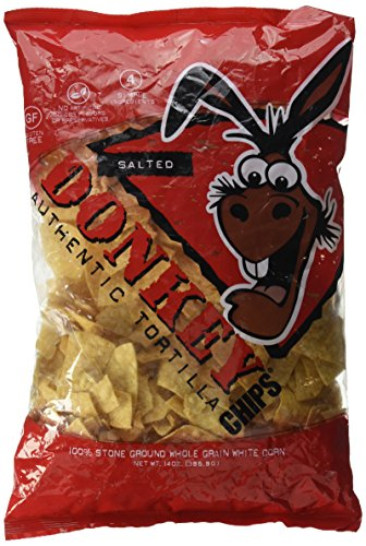 (Donkey Chip, Authentic Tortilla Chips, Salted, 14 oz)
