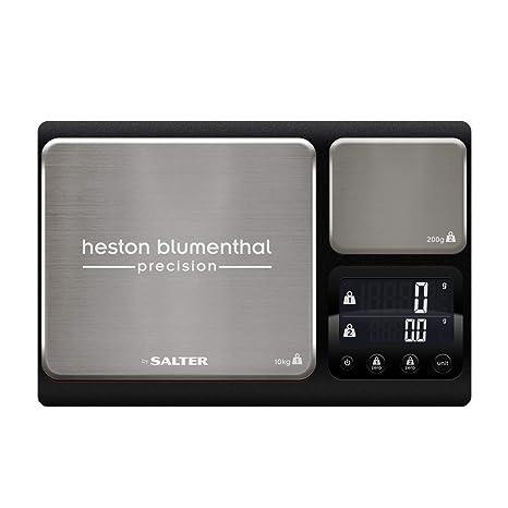 Salter balanza Heston Blumenthal: bàscula Doble, Alta Capacidad de 10 kg + Segunda Plataforma