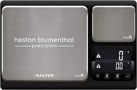 Salter balanza de precisión de Doble Plataforma Bßscula de Cocina electr¾nica lÝnea Heston, Dual, en Acero, 10Kg, Inoxidable, 31 x 21 x 5 cm: Amazon.es