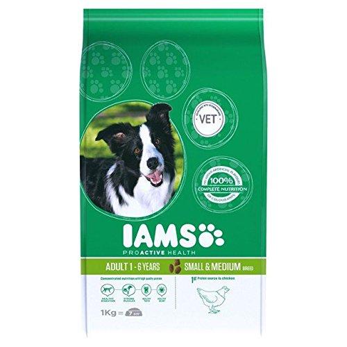 Iams Adult Dry Dog Food Small & Medium Breed 1kg (PACK OF 2)