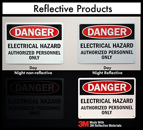 "SmartSign 3M Engineer Grade Reflective Tags, Legend ""Sprinkler Control Valve"", 2"" high x 6"" wide, White on Red"