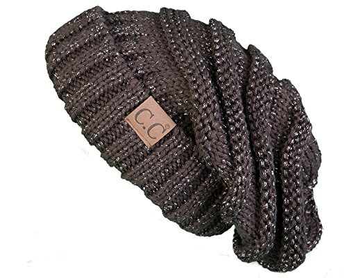 3c150bba6c8 Galleon - H-6100-9007 - Slouchy Beanie - Metallic Brown