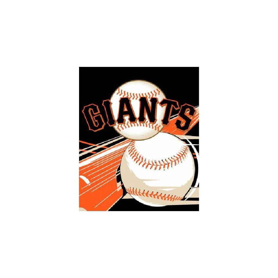 San Francisco Giants MLB Royal Plush Raschel Blanket (Big Stick Series) (50x60)
