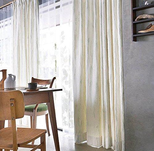 アスワン 自然のモチーフをアレンジしたデザイン カーテン2倍ヒダ E6062 幅:100cm ×丈:150cm (2枚組)オーダーカーテン 150  B0784WS813