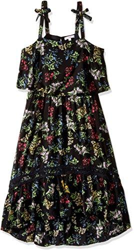 Ella Moss Girls' Slim Size Allison Rayon Dress, Print, 14 (Rayon Slim Day Dress)