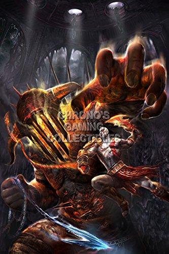 God of War CGC Huge Poster Glossy Finish III Kratos VS Hades Sony PS2 PS3 PS4 PSP Vita - GOW013 (24