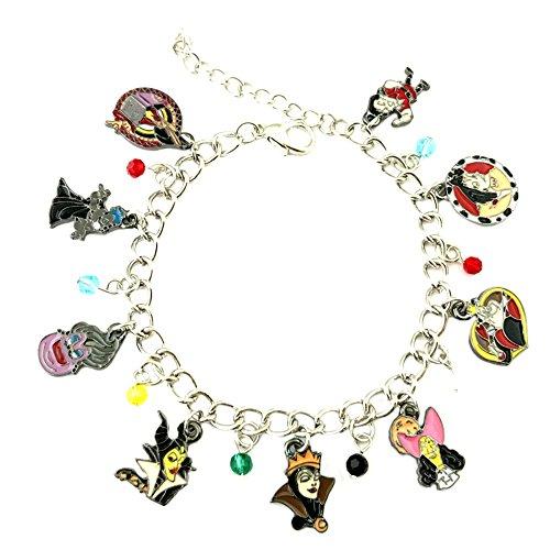 (Superheroes Brand Disney Villains Classic Cartoon Charm Bracelet w/Gift Box Movies Premium Quality Cosplay Jewelry Series)