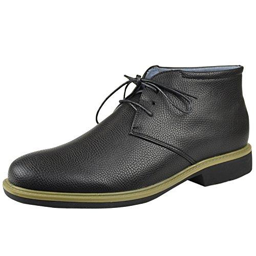 Up Black Lace Stitched Tonal Shoes Casual Chukka Mens Black 4qgPn