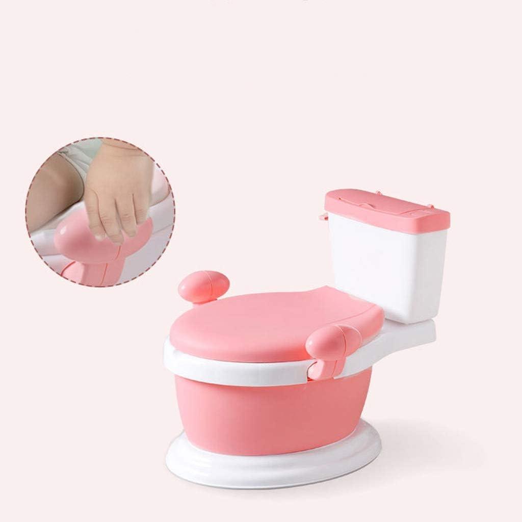 ROSA Orinal Para Ni/ños Wc Para Baby o Bebe Inodoro de Pl/ástico para Bebe con Asideros Y Asiento Antideslizante Aprendizaje Seguro para tu Bebe Orinal F/ácil de Usar Inodoro para Viaje