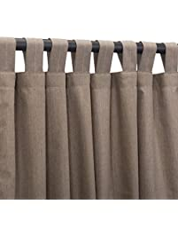 Sunbrella Outdoor Curtain Panel Tab Top 50 By 96 Inch Cast Shale