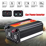 Alelife 8000W Car Power Inverter 12/24V to 110/220V Sine Wave Converter with Blade Fuses 2pcs Blade Fuses Overload Protection, Overheat Protection