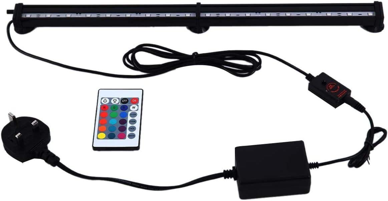 Yunge Aquarium Lights Remote Control LED Bubble Lights with 16 Colors Fish Tank Lights 45cm//18LED