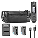 Neewer Replacement MB-D16 Battery Grip Kit for Nikon D750 with 2.4GHz Wireless Control Remote Control, 2 Pieces 2100 mAh Replacement Battery for EN-EL15, 5V/2.1A Input Usb Charger