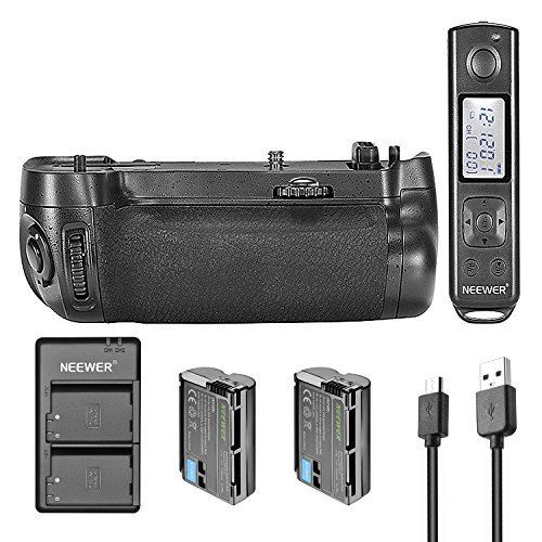 Neewer Replacement MB-D16 Battery Grip Kit for Nikon D750 with 2.4GHz Wireless Control Remote Control, 2 Pieces 2100 mAh Replacement Battery for EN-EL15, 5V/2.1A Input Usb Charger by Neewer (Image #1)