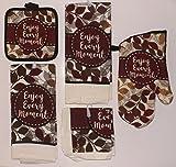 Enjoy Every Moment Kitchen Linen Bundle - 7 piece set