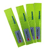 Tofern Waterproof Diamond Grade 3M Scotchlite Car Auto All weather Outdoor Safety reflective stickers tapes for Motorcycle bicycle cycling Sled and other safety needs - 4 PCS, Yellow