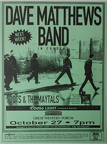 - Dave Matthews Band w/Toots & The Maytals 1998 Concert Poster