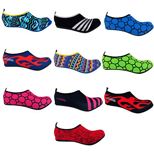 Bamboomn Ultra Light Dynamic Flexible Active Water Sport Aqua Running Zapatos De Playa Tribal Black Con Red