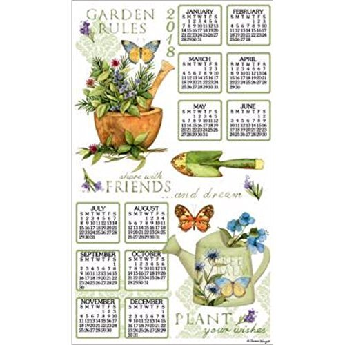 2018 Garden Rules Towel Calendar, Kitchen Towel by Kay Dee Designs