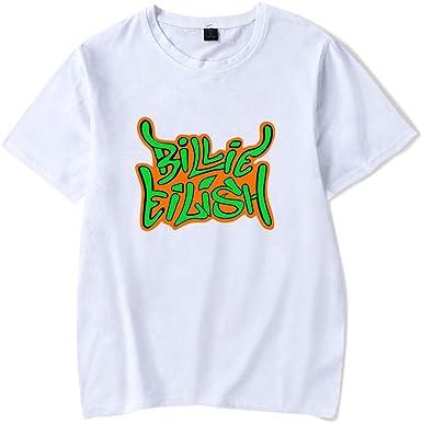 Nueva Camiseta La Cantante Europea y Estadounidense Billie Eilish rodea sin apretar a Las Estrellas la Misma Camiseta Casual de Verano de Manga Corta para Hombres y Mujeres: Amazon.es: Ropa y accesorios