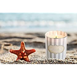 Jasmine Scented Candles Soy Wax, 45 Hours BURN, Fi