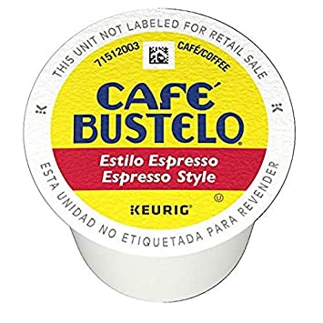 Café Bustelo Espresso Style K-Cup Pods for Keurig Brewers, Dark Roast Coffee,