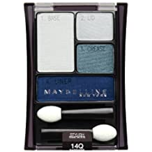 Maybelline New York Expert Wear Eyeshadow Quads, 14q Sapphire Smokes Stylish Smokes, 0.17 Ounce by Maybelline-Garnier-Essie, Consumer Products Divisi