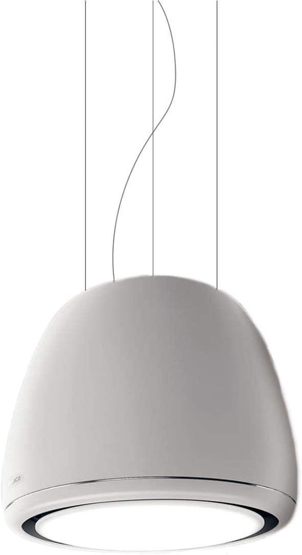 Elica Edith Classic - Campana (Recirculación, 325 m³/h, 40 Db, Colgante, LED, Color blanco)