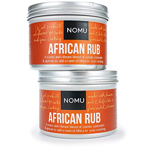 African Food - NOMU African Seasoning Rub Blend (4.58 oz | 2-pack) | MSG & Gluten Free, Non-GMO, Non-Irradiated