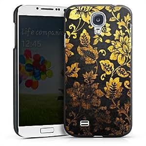 Carcasa Design Funda para Samsung Galaxy S4 i9500 / LTE i9505 HardCase black - Golden Black Vintage