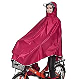 Tourwin Windproof Hooded Cycling Bike Bicycle Raincoat Poncho Red 1 Pack