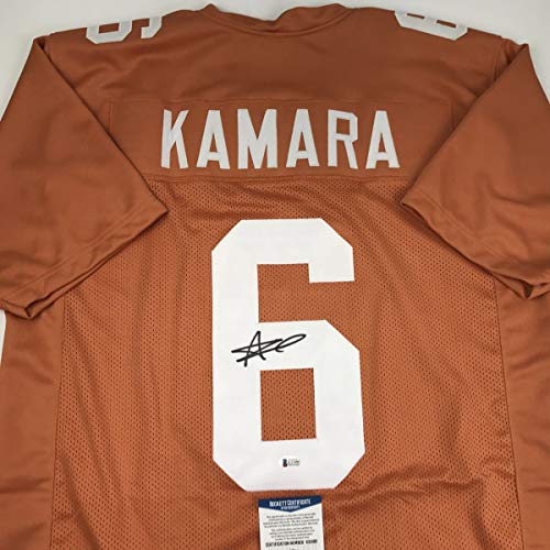 Autographed/Signed Alvin Kamara Tennessee Orange College Football Jersey Beckett BAS COA
