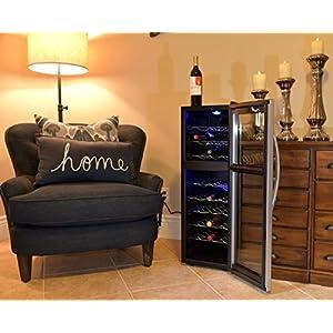 Avalon Bay AB-WINE27DS 27 Bottle Dual Zone Wine Cooler