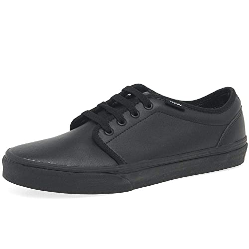 Vans UY 106 Vulcanized Black Classic Tumble Youth Trainers: Amazon.es: Zapatos y complementos