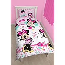 Character World Single Disney Minnie Mouse Handmade Rotary Duvet Set, Multi-Colour by Disney Junior