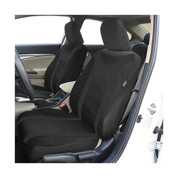 FH Group FB070BLUE102 Blue Front Airbag Ready Sport Bucket Seat Cover Set Of 2