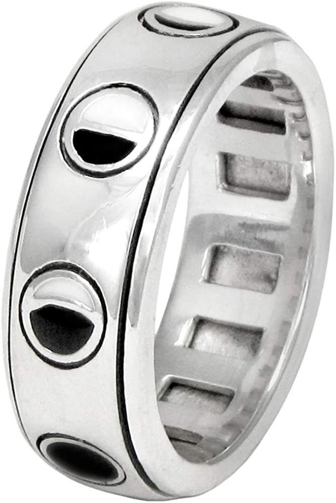   Zirconia Stones Lunar Moon Phase Ring Silver 925 Silver silver ring