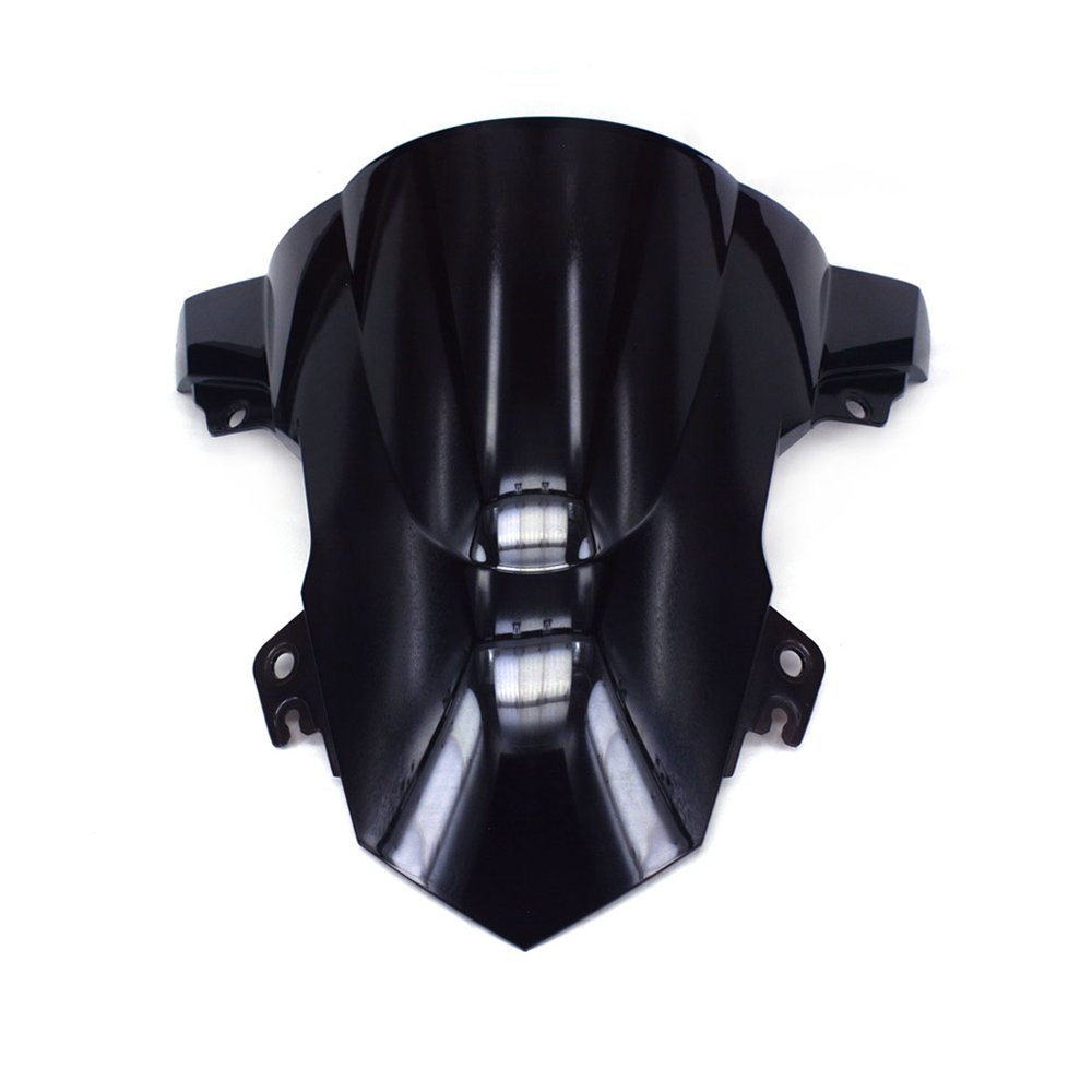 JFG RACING Black Motorcycle Windscreen Windshield For BMW S1000R S1000 R 2014-2016 2015