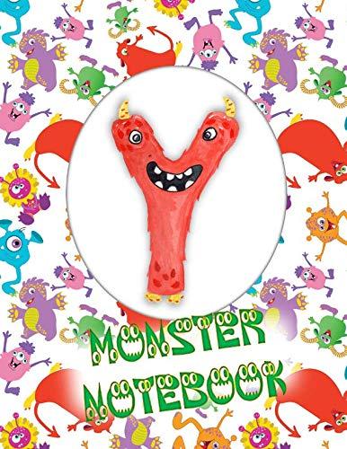 Y Monster Notebook: Kids Monogrammed Journal and Doodle -