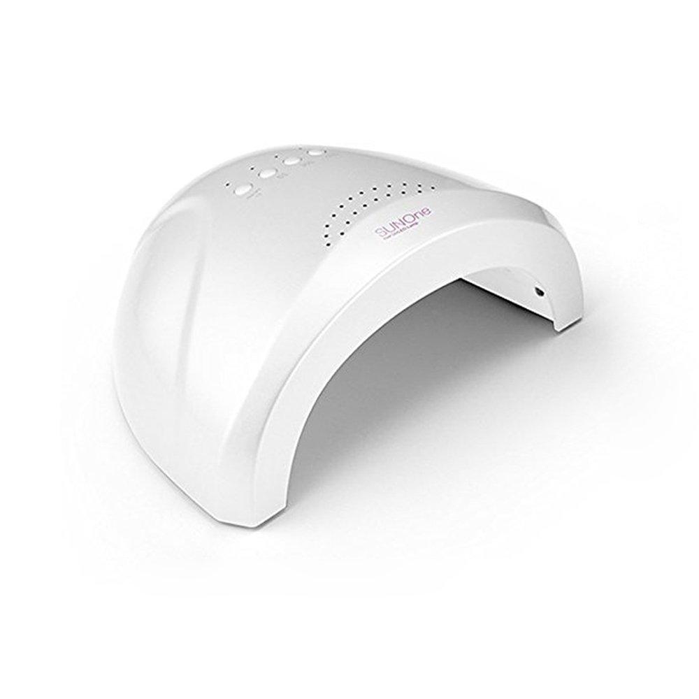 Vishine Professional SUNone 48W LED UV Nail Dryer White Light Nail Lamp Fast Cure with 3 Timer Setting 5S/30S/60S Automatic Sensor Machine for Fingernail & Toenail Nail Art Salon Tool
