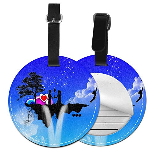 Fantasy Love Round Luggage Tags Suitcase Labels Bag Travel Accessories Tough 4 Pack