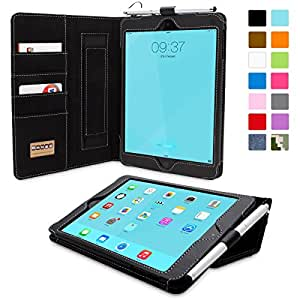 iPad Mini & iPad Mini 2 Case, Snugg™ - Executive Smart Cover With Card Slots & Lifetime Guarantee (Black Leather) for Apple iPad Mini & iPad Mini 2