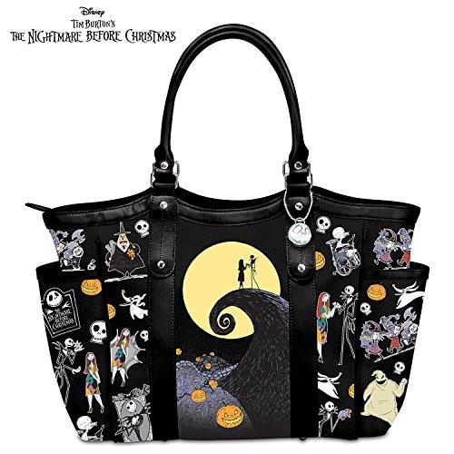 Disney Tim Burton's The Nightmare Before Christmas Polyester Twill Tote Bag by The Bradford Exchange (Jack Skellington Tote Bag)