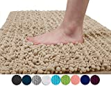 Yimobra Original Luxury Shaggy Bath Mat Large Size 31.5 X 19.8 Inch Super Absorbent Water,Non-Slip,Machine-Washable,Soft and Cozy,Thick Modern for Bathroom,Bedroom,Floor