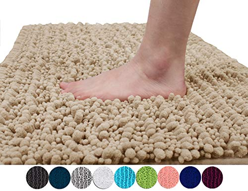 bb84959abf6 Yimobra Original Luxury Shaggy Bath Mat Large Size 31.5 X 19.8 Inch Super  Absorbent Water
